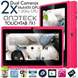Andteck TouchTab 7″ Dual Camera Google Android 4.1 Tablet PC, 7-inch, Wi-Fi, A13 1.2Ghz [2014 Model] (Hot Pink)