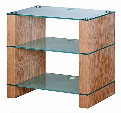 BLOK STAX DeLuxe 300 Three Shelf Oak Hifi Stand  &  AV TV Rack Unit