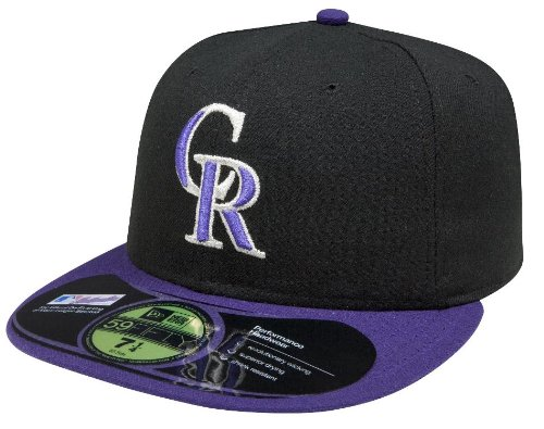 MLB Colorado Rockies Authentic On Field Alternate 59FIFTY Cap, 6 3/4, Black/Purple at Amazon.com