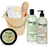 BRUBAKER 8 Pcs Happiness Body Milk, Shower Gel, Body Butter and Spa Bath and Body Gift Set