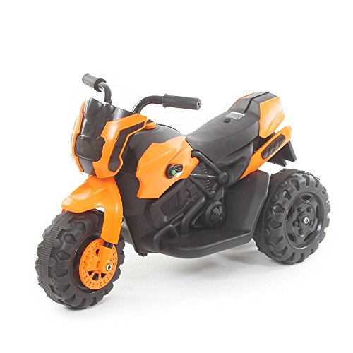 The Flyer's Bay Kids ATV Electric Bike With Music and Lights (Orange)