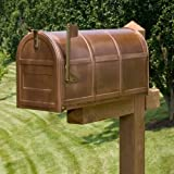 Bartlett Post Mount Copper Mailbox - Standard - Antique Copper