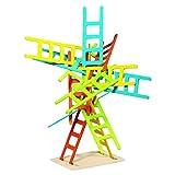 Goki - Juego de equilibrio con escaleras, 21 piezas, de madera (Gollnest & Kiesel 56877.0)