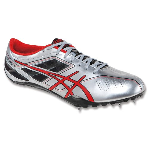 d9bf47f8a9c0 ASICS Men s Sonicsprint Track ShoeSilverFire RedBlack12 M US Lowest ...