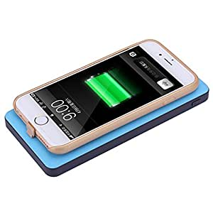 stardrift 10000mAh Qi Wireless Power Bank/Qi Wireless Charging Pad with Rechargeable Battery Dual 1.0A and 2.1A USB Output Ports for Samsung S6 / S6 Edge, Google Nexus 4 / 5 / 6 / 7 2nd Gen, Nokia Lumia 920 / 1020 / 1520, HTC, LG and Other Qi-Enabled device(blue pad+receiver for iPhone 6)