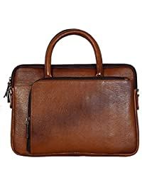 Hidekin - Our Centauri-I Messenger Is A Thoroughly Practical Choice Tan Color Leather Laptop Bag