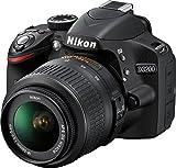 """Nikon D3200 - Cámara réflex digital de 24.2 Mp [pantalla 3"""", estabilizador óptico (función software incluida), vídeo Full HD], color negro - Kit cuerpo cámara con objetivo AF-S DX 18-55 mm f/3.5-3.6G ED II, estuche, libro, 5 años garantía y 6 cursos foto y video"""