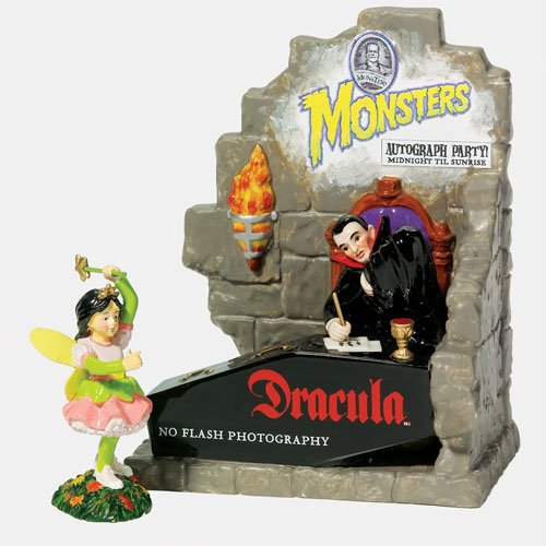 AUTOGRAPHS WITH DRACULA Dept 56 Halloween Village dracula s heir