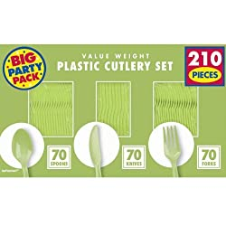 Plastic Cutlery Set Kiwi Green Plastic forks Plastic Spoons Plastic Knifes Party Forks