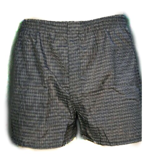 Mens Basic Fly Front Tartan Plaids 3-Pack Multi Colour Assorted Woven Boxers