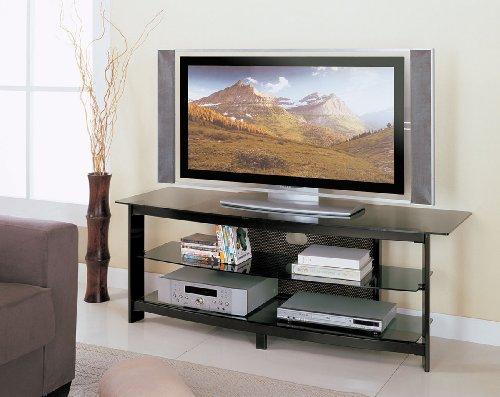 Image of Acme 02120 Horizon TV Stand, Black Powder Metal Finish (B004ZOB3DK)