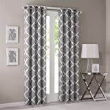 "Madison Park Saratoga Window Curtain - Grey - 84"" Panel"