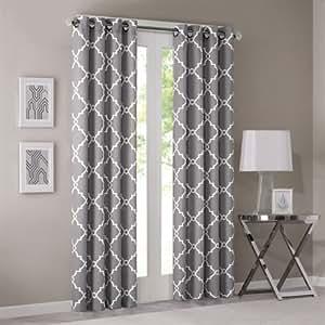 Madison Park Saratoga Window Curtain Grey