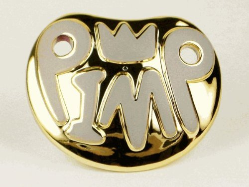 Billy Bob Playground Pimp Baby Pimp Gold Pacifier - 1