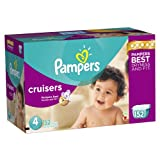 Pampers Cruisers Diapers Size 4 Economy Pack Plus 152 Count Reviews