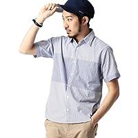 (ビームス) BEAMS  / ストライプ×チェック 半袖シャツ