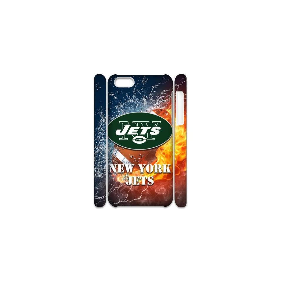 Treasure NFL New York Jets Logo 3D HD Apple iPhone 5C covers Cell Phones & Accessories