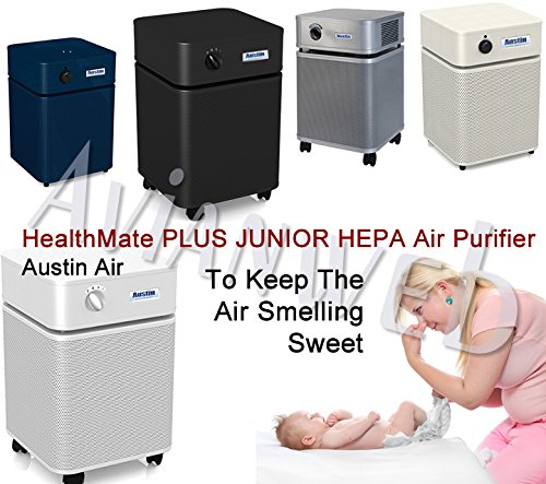 Austin Air Healthmate Junior PLUS Air Purifier - Providing Relief For the Chemically Sensitive (Black)