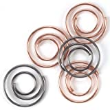Metal Mini Spiral Clips 25/Pkg-Antique & Copper