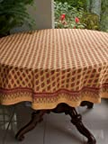 Indian Summer ~ Orange Round India Print Paisley Tablecloths 70 Round