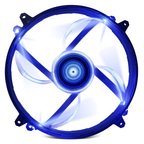 Nzxt Technologies Fz 200Mm Blue Led Cooling Fan With Sleeved Cable Rf-Zf20S-U1