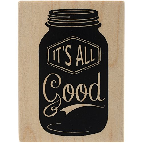 "Inkadinkado It's All Good Mounted Rubber Stamp, 2.25"" by 3"" - 1"