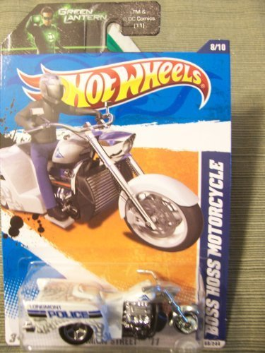 Hot Wheels 2011 HW Main Street Boss Hoss Motorcycle 8/10 on Green Lantern Card by Hot Wheels