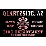 qy50668-r FIRE DEPT QUARTZSITE, AZ ARIZONA Firefighter Neon Sign Enseigne Lumineuse