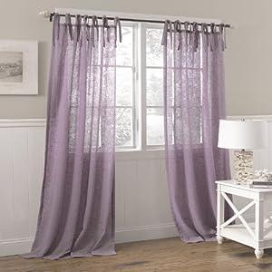 Laura Ashley Danbury Tie Top Window Treatment Panel 42 By 84inch Lavender