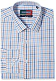 Peter England Men's Formal Shirt (8907411660316_PSF31601396_44_Orange)