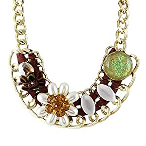 Alloy Ribbon Flower Choker Necklace Max Colares: Arts, Crafts & Sewing