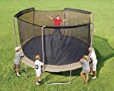 Trampoline Part Store 14' with 3 -Sleeves *Ultra* Trampoline Replacement Safety Net Only, Fits Only 3-arch/sleeve Enclosures with 14' Trampoline Frame Purchase Includes Free Shipping, Safety Net & Tie Downs