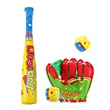 Kidcia Baseball Equipment Set with Baseball Bat Glove & Balls for Kids