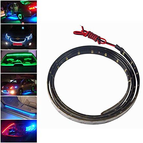 White Fashion Partical Multicolor 120Cm 60 Led 3528 Smd Car Auto Flexible Strip Light Bar Waterproof