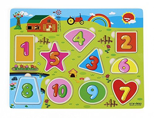 ZUINIUBI-Numbers-1-to-10-Puzzle-Easy-Shapes-Matching-Puzzle-For-Kids-Happy-Farm-PB-education-toy