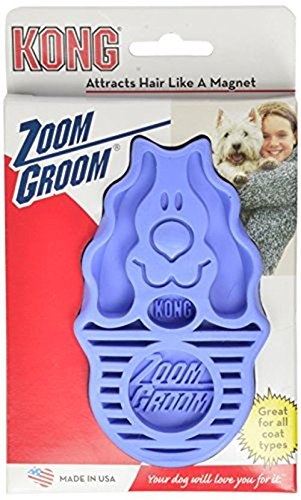 KONG ZoomGroom, Dog Grooming Brush, Boysenberry