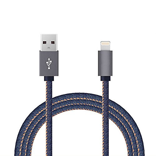Happy Hours - 1 Meter Cowboy Braided Quick Charger Cable 2.0 Fits IOS 8 9 / Tangle-Free Lightning to USB Data Cable for iPhone 5 / 5C / SE / 6 / 6S / 6 Plus / 6S Plus(Navy) (Electric Blanket Power Cord compare prices)