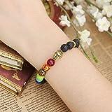 JOVIVI-Schmuck-Lava-Armband-Damen-Herren-Reiki-Energietherapie-Armreif-7-Chakra-Healing-Buddha-ArmbandGold-Buddha-Kopf-Stil