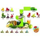 Creatif Ventures Fruits & Vegetable Juicer With Waste Collector, Steel Handle, Manual Juicer, Natural Fruit Juicer (Green)