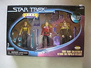Star Trek 1701 Collector Series Picard Barclay Yar Figure Set