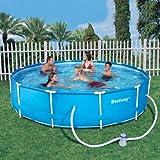 #9: Bestway 12ft x 30in deep Steel Frame Swimming Pool