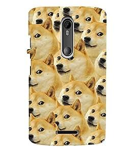 Printvisa Pattern Of A Group Of Dogs Back Case Cover for Motorola Moto X3::Motorola Moto X (3rd Gen)