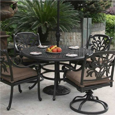 Buy low price alfresco home 72 in dia oval dining table for Round dining table 52 inch