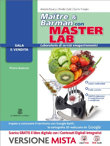 Masterlab. Maître e barman. Settore sala e vendita. Con e-book. Con espansione online. Per gli Ist. professionali alberghieri
