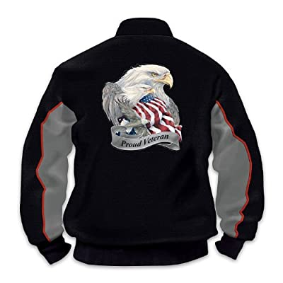 US Military Pride Veterans Salute Men's Jacket by The Bradford Exchange