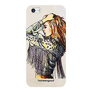 HomeSoGood Cow Girl Fashion Multicolor 3D Mobile Case For iPhone 5 / 5S (Back Cover)