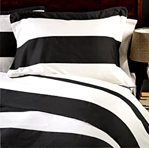 Amazon Com Marrikas 600tc Twin Stripe Black With White