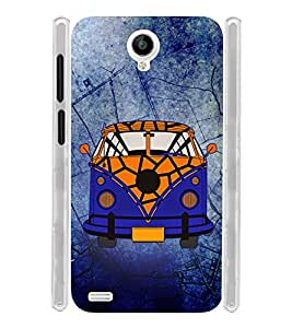 Vintage Zeep Old Car Blue Pattern Soft Silicon Rubberized Back Case Cover for Vivo Y22