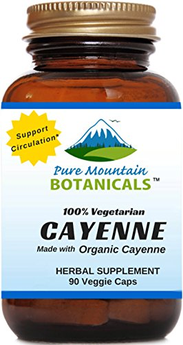 Cayenne Pepper Capsules - 90 Kosher Caps - Now with 500mg Organic Cayenne Pepper Fruit Powder - Nature's Best Hot Supplement