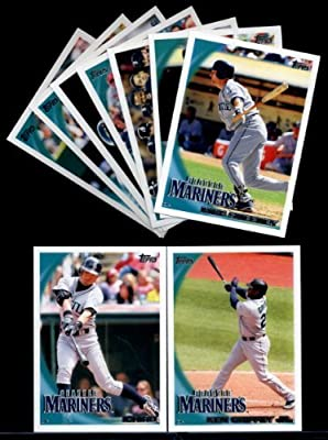 2010 Topps Baseball Cards Complete TEAM SET: Seattle Mariners (Series 1 & 2) 21 Cards including Griffey Jr., Ichiro, Beltre, Moore, Hernandez, Rowland-Smith, Fister & more!